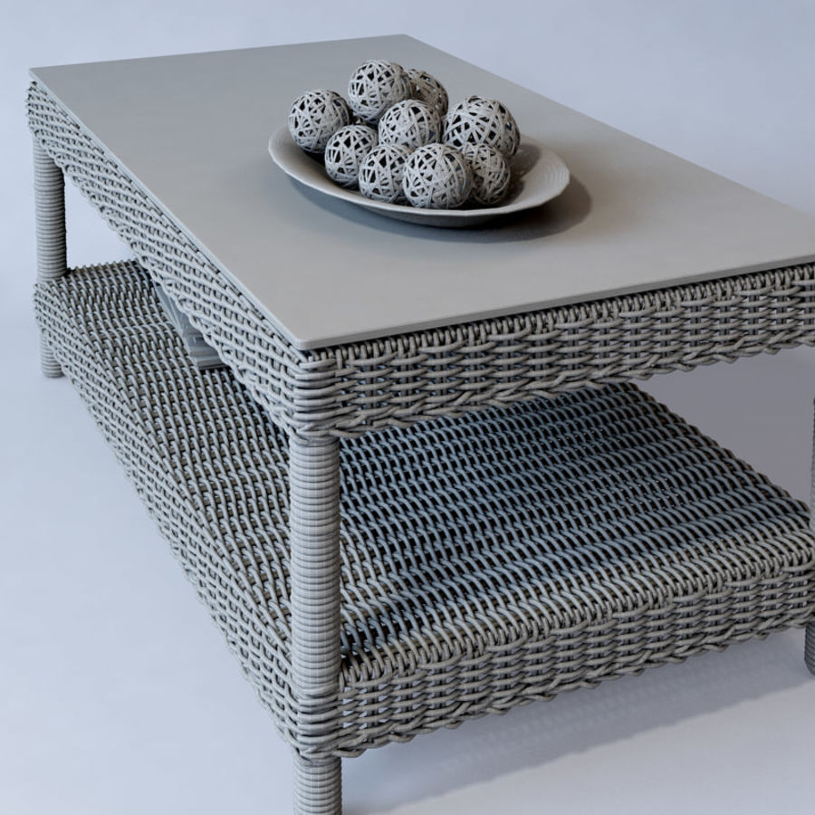 Rattan furniture collection royalty-free 3d model - Preview no. 43