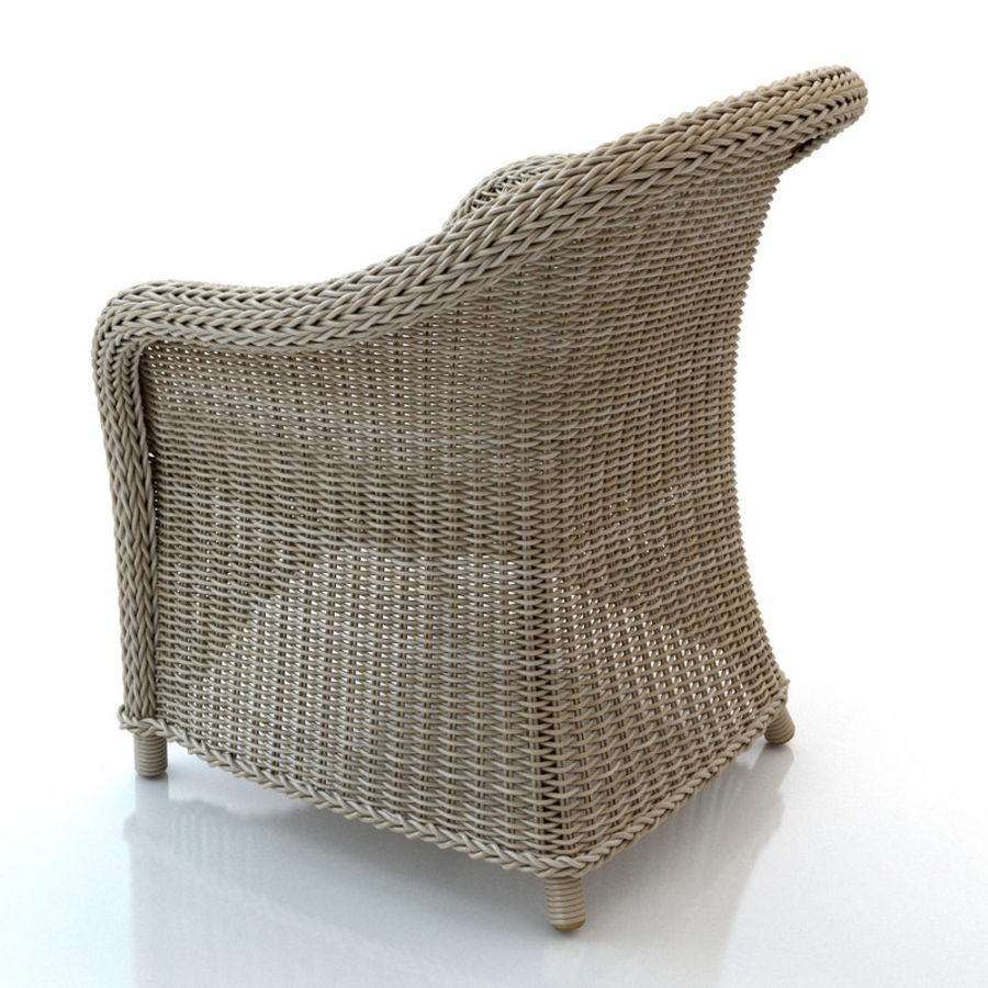 Rattan furniture collection royalty-free 3d model - Preview no. 11