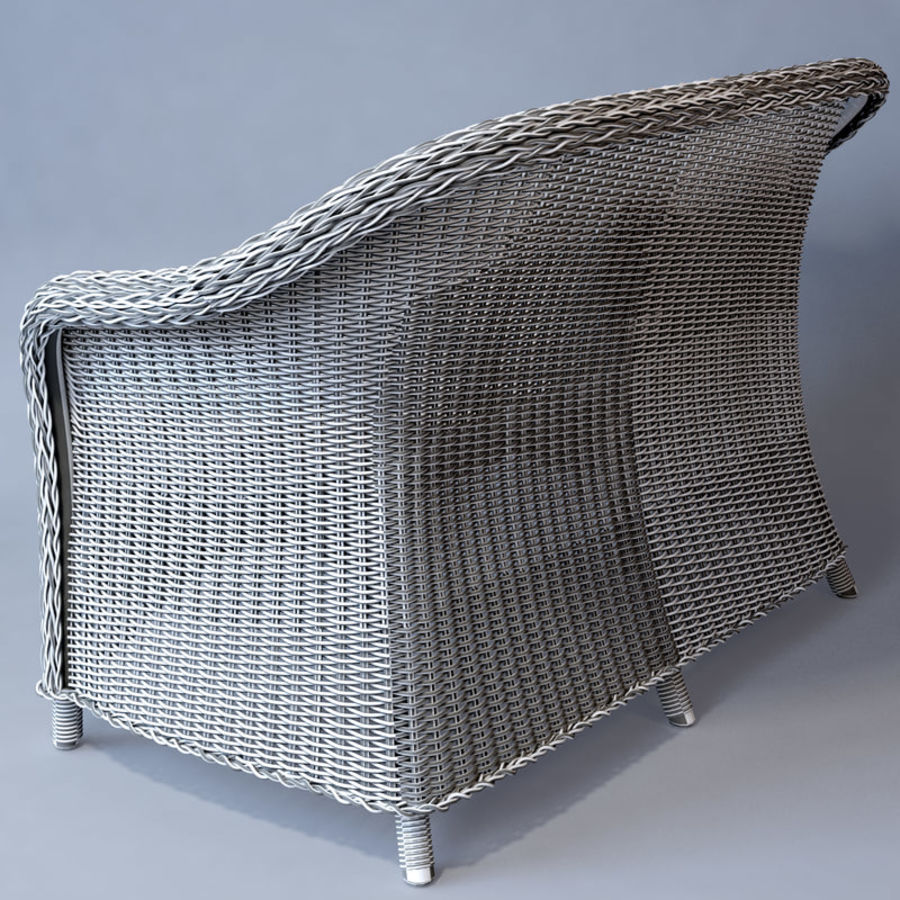 Rattan furniture collection royalty-free 3d model - Preview no. 34