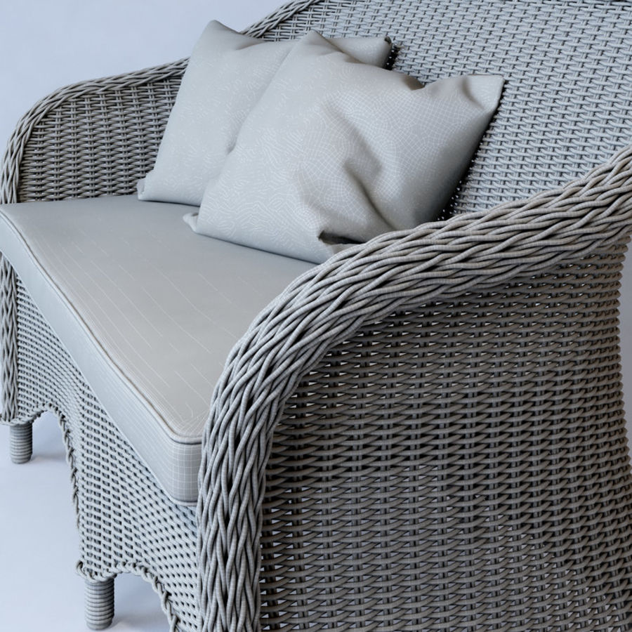 Rattan furniture collection royalty-free 3d model - Preview no. 36