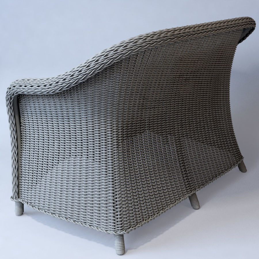 Rattan furniture collection royalty-free 3d model - Preview no. 37