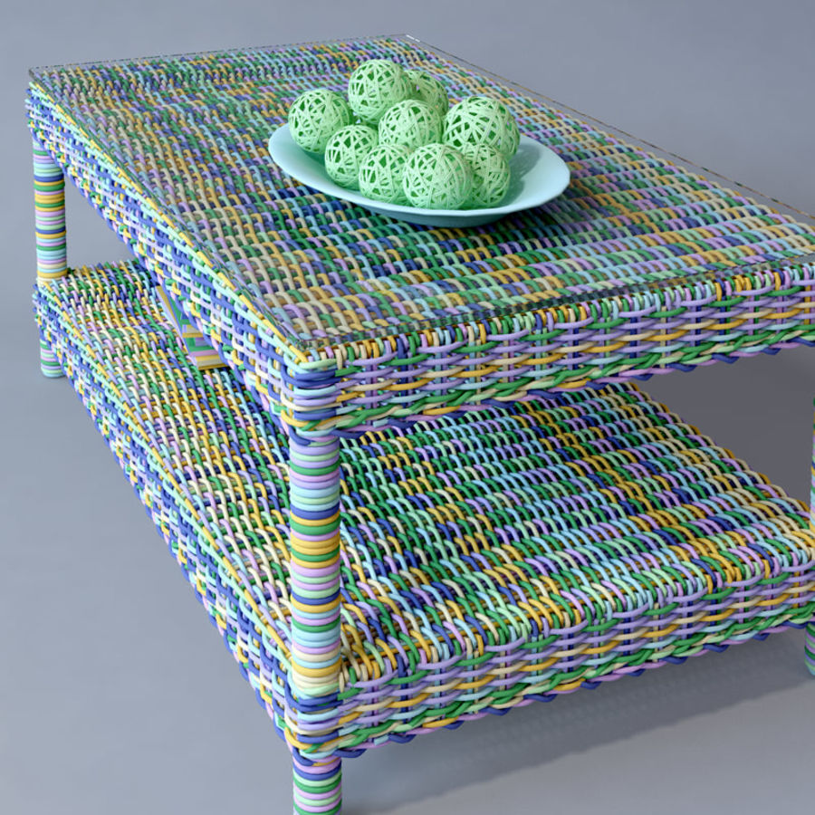 Rattan furniture collection royalty-free 3d model - Preview no. 39