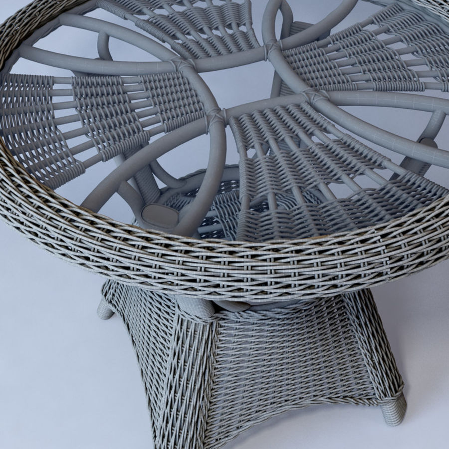 Rattan furniture collection royalty-free 3d model - Preview no. 49