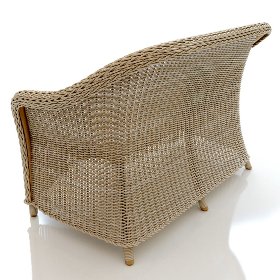 Rattan furniture collection royalty-free 3d model - Preview no. 19