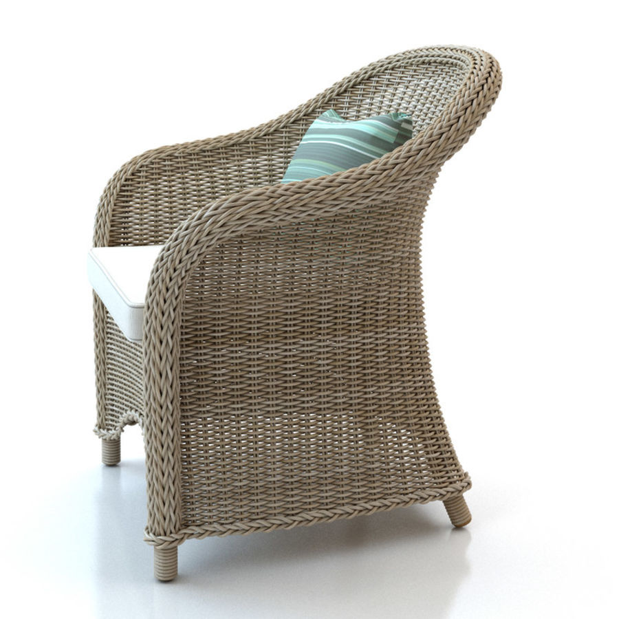 Rattan furniture collection royalty-free 3d model - Preview no. 10