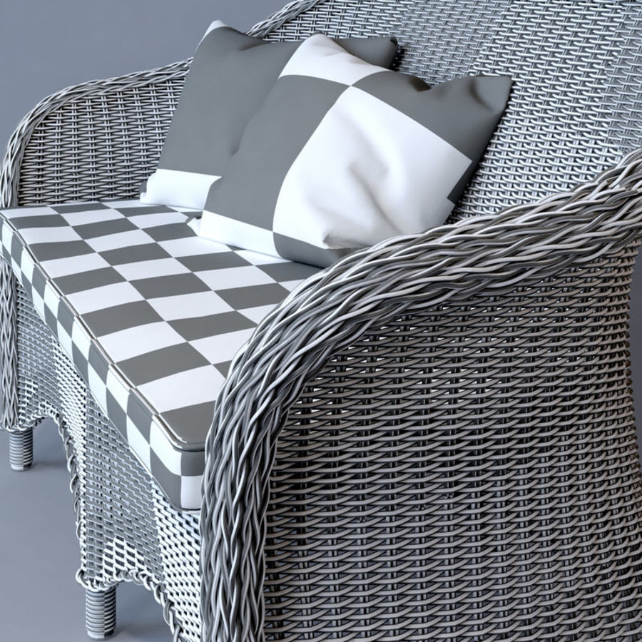 Rattan furniture collection royalty-free 3d model - Preview no. 33