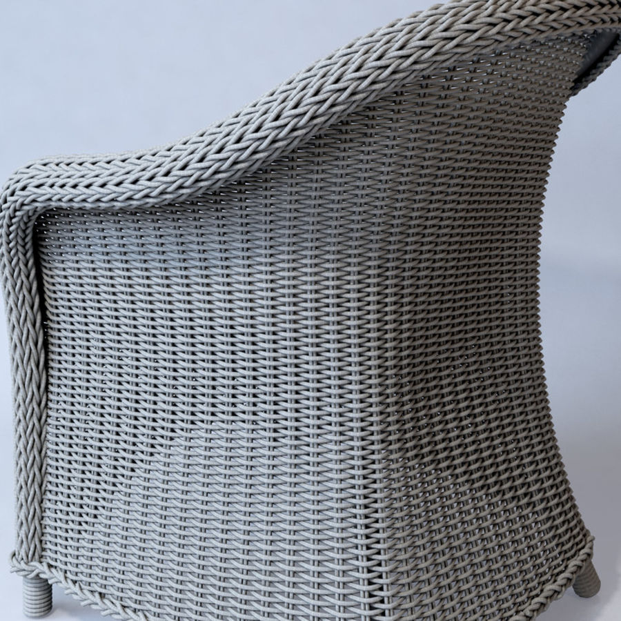 Rattan furniture collection royalty-free 3d model - Preview no. 58