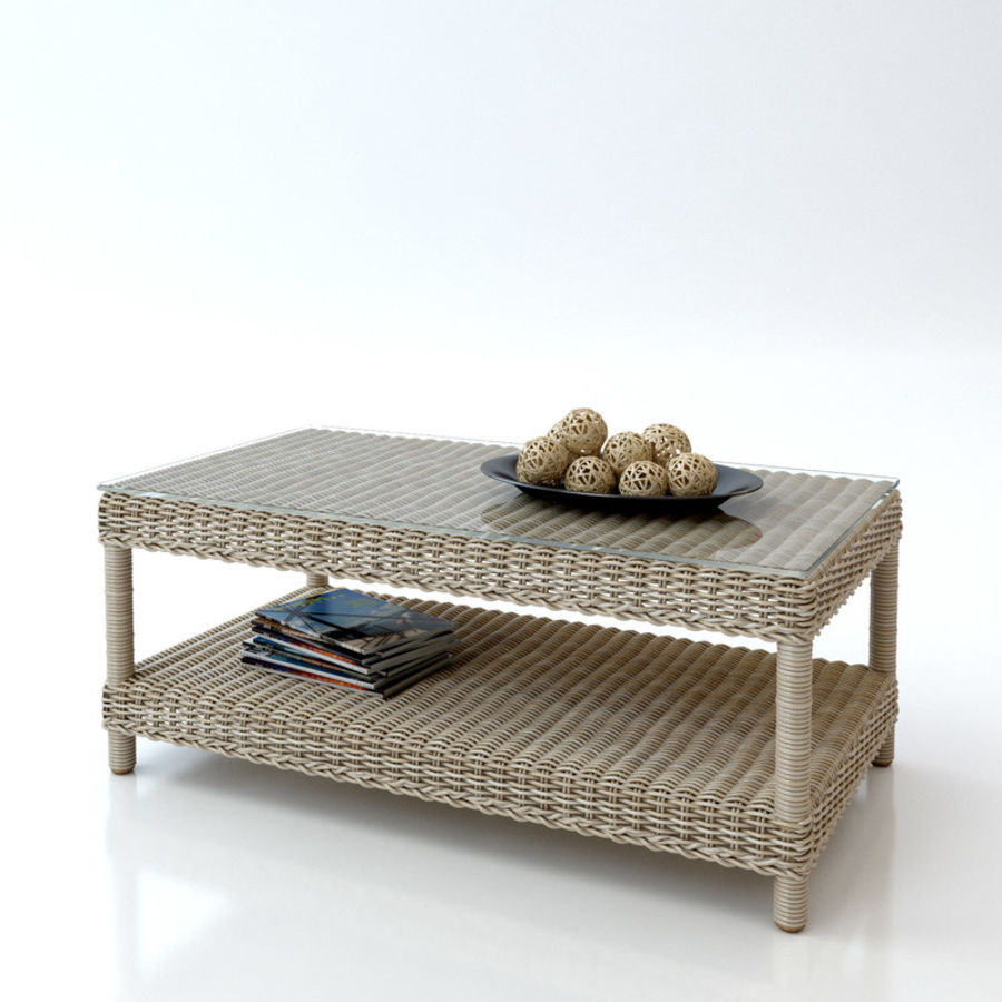 Rattan furniture collection royalty-free 3d model - Preview no. 13