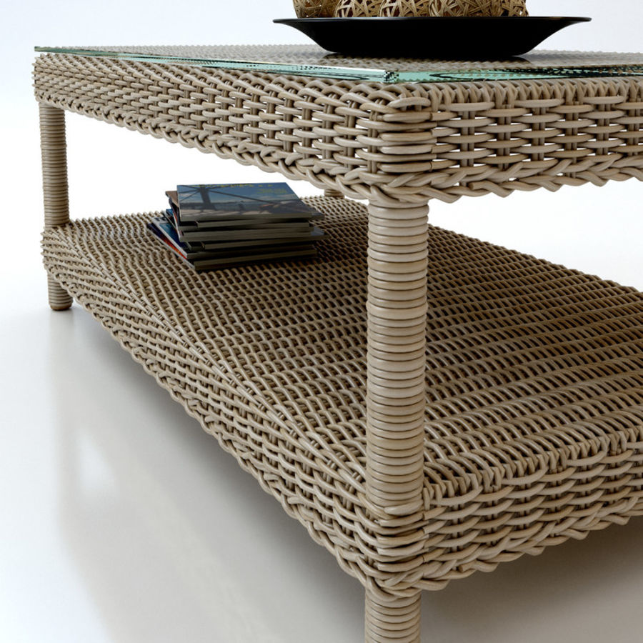 Rattan furniture collection royalty-free 3d model - Preview no. 15