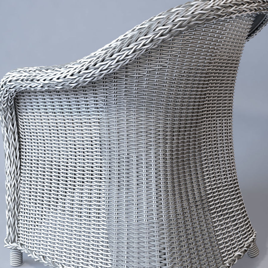 Rattan furniture collection royalty-free 3d model - Preview no. 55