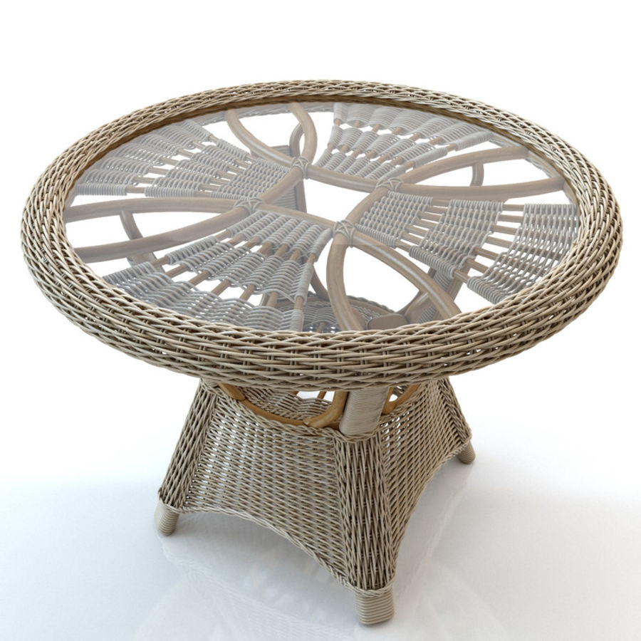 Rattan furniture collection royalty-free 3d model - Preview no. 21