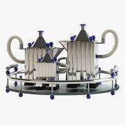 トレイにお茶セット 3d model