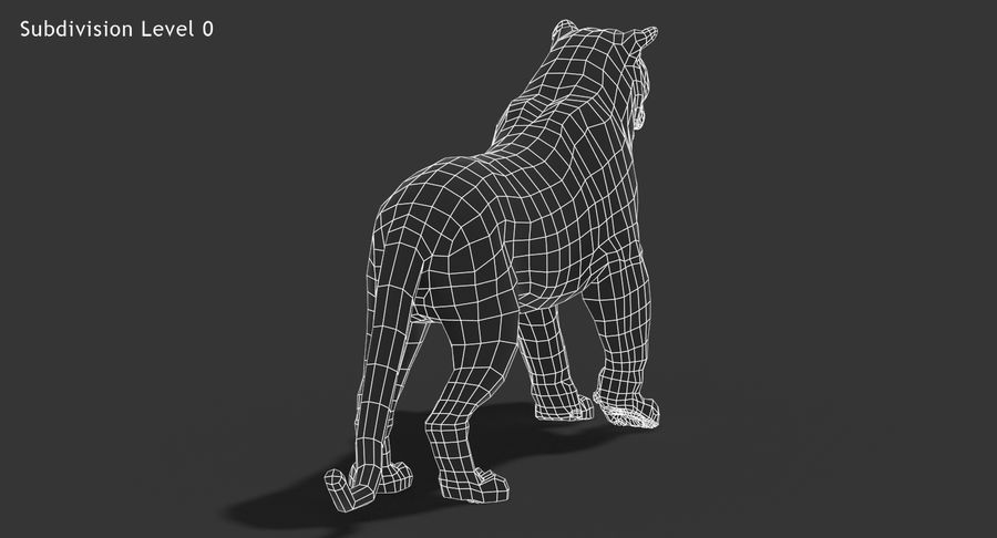 Cougar (Animated, Cartoon) royalty-free 3d model - Preview no. 19