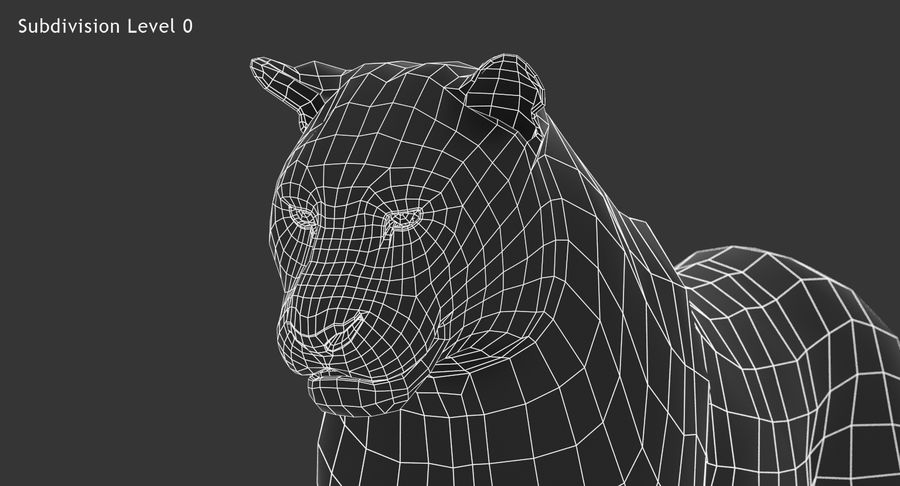 Cougar (Animated, Cartoon) royalty-free 3d model - Preview no. 21