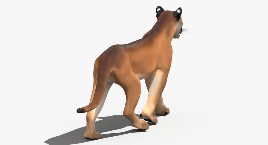 Cougar (Animated, Cartoon) royalty-free 3d model - Preview no. 9