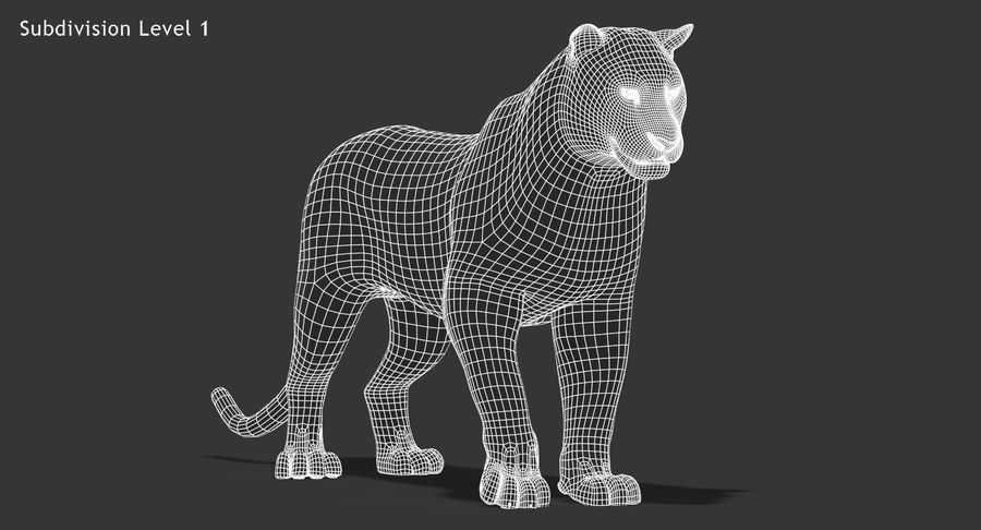 Cougar (Animated, Cartoon) royalty-free 3d model - Preview no. 18