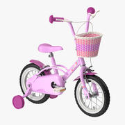 Little Girl Bicycle 3d model