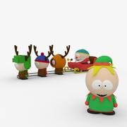 圣诞雪橇(南方公园) 3d model