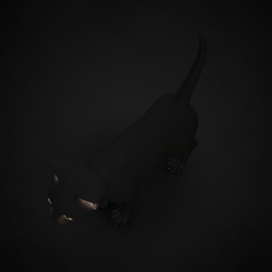 Chaton (sans poils) royalty-free 3d model - Preview no. 8