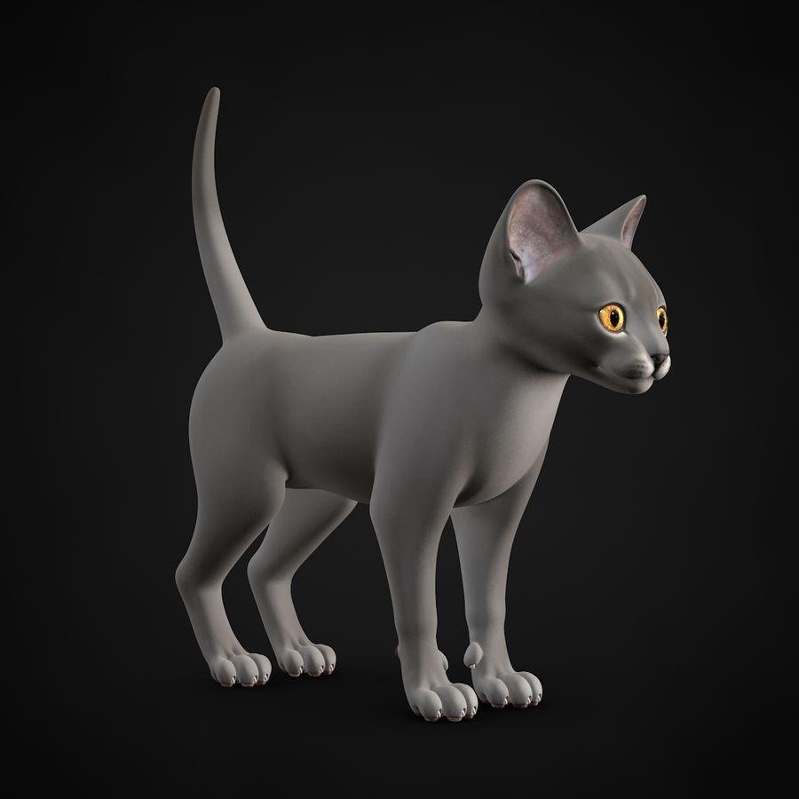 Chaton (sans poils) royalty-free 3d model - Preview no. 4