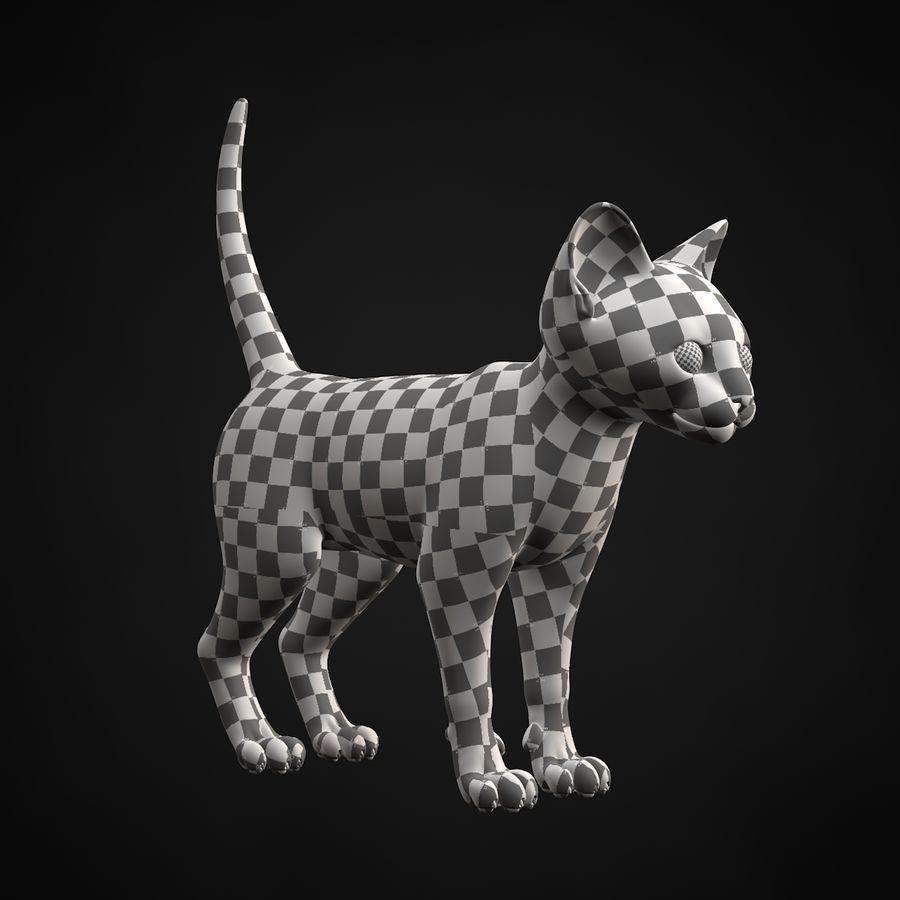Chaton (sans poils) royalty-free 3d model - Preview no. 30