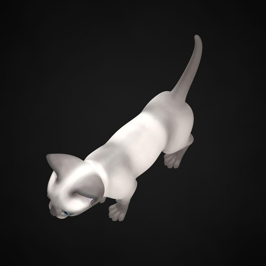 Chaton (sans poils) royalty-free 3d model - Preview no. 11