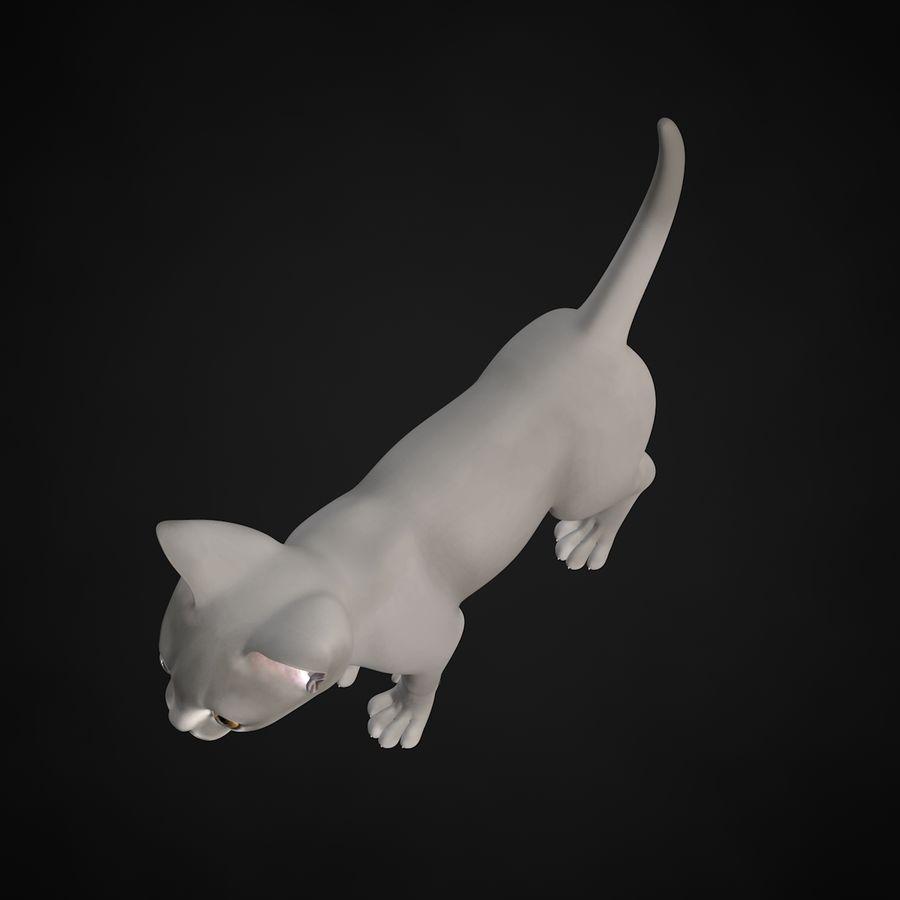 Chaton (sans poils) royalty-free 3d model - Preview no. 9
