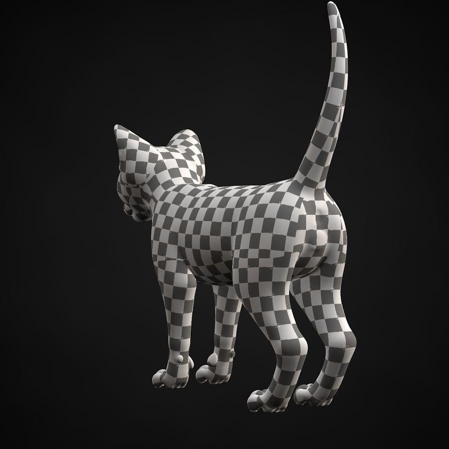 Chaton (sans poils) royalty-free 3d model - Preview no. 31