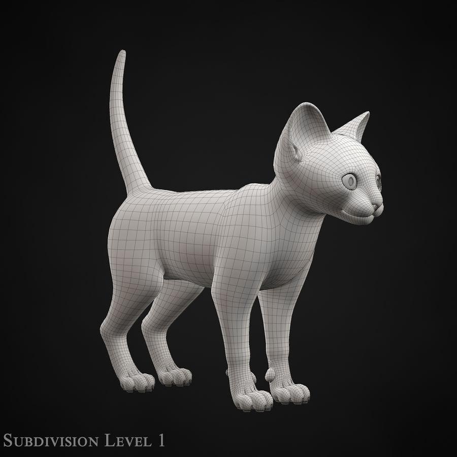 Chaton (sans poils) royalty-free 3d model - Preview no. 21