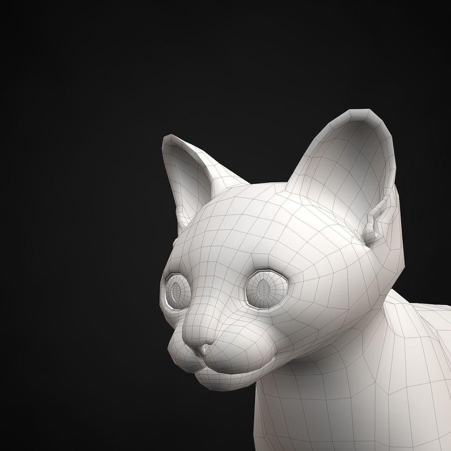 Chaton (sans poils) royalty-free 3d model - Preview no. 24