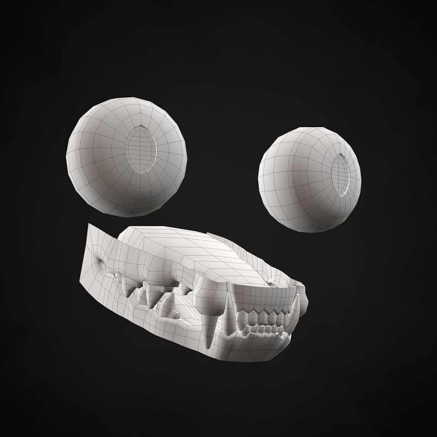 Chaton (sans poils) royalty-free 3d model - Preview no. 19