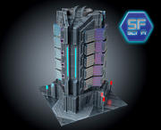 Sci Fi Futuristic Building HD 3d model