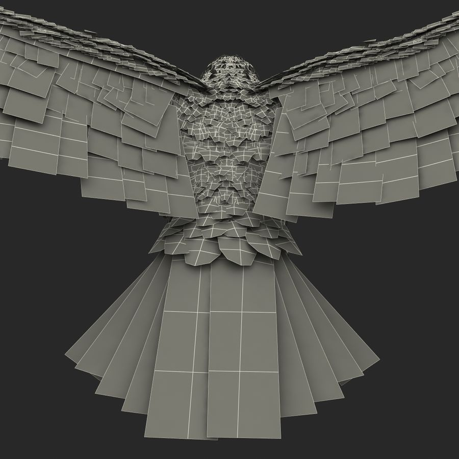 Bald Eagle Pose 4 royalty-free 3d model - Preview no. 29
