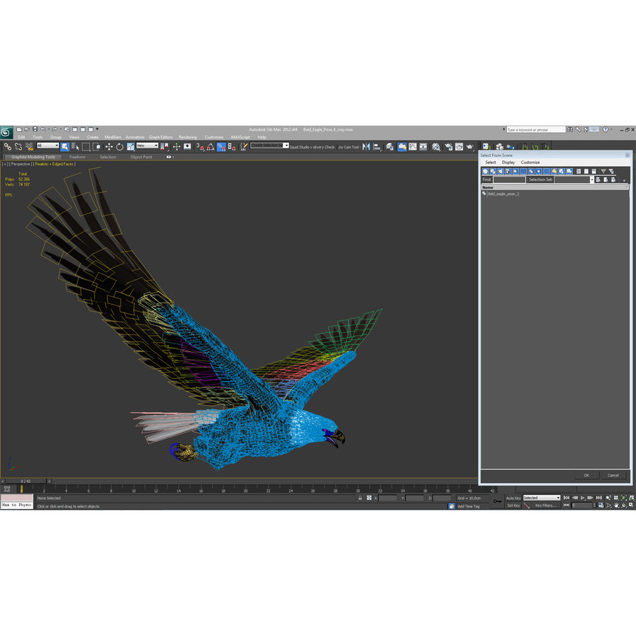 Bald Eagle Pose 4 royalty-free 3d model - Preview no. 25