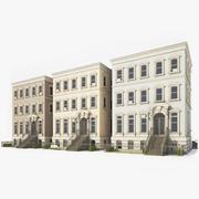 Casas de pueblo modelo 3d