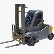 Sci Fi Forklift 3d model