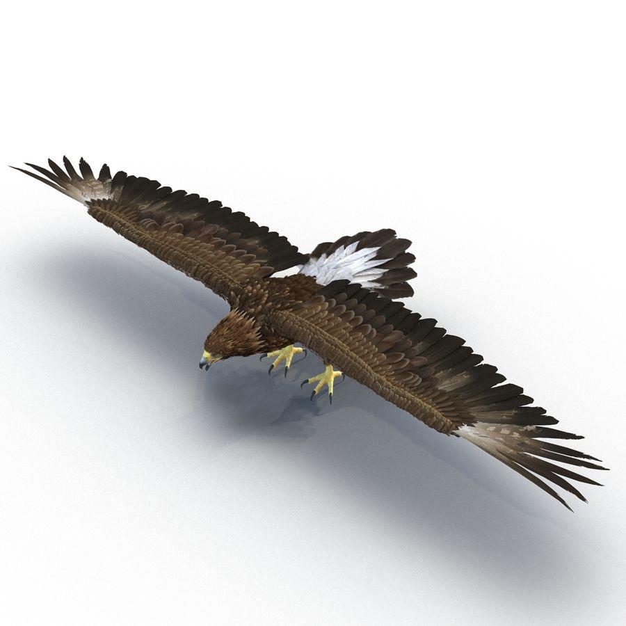 Águila dorada royalty-free modelo 3d - Preview no. 5