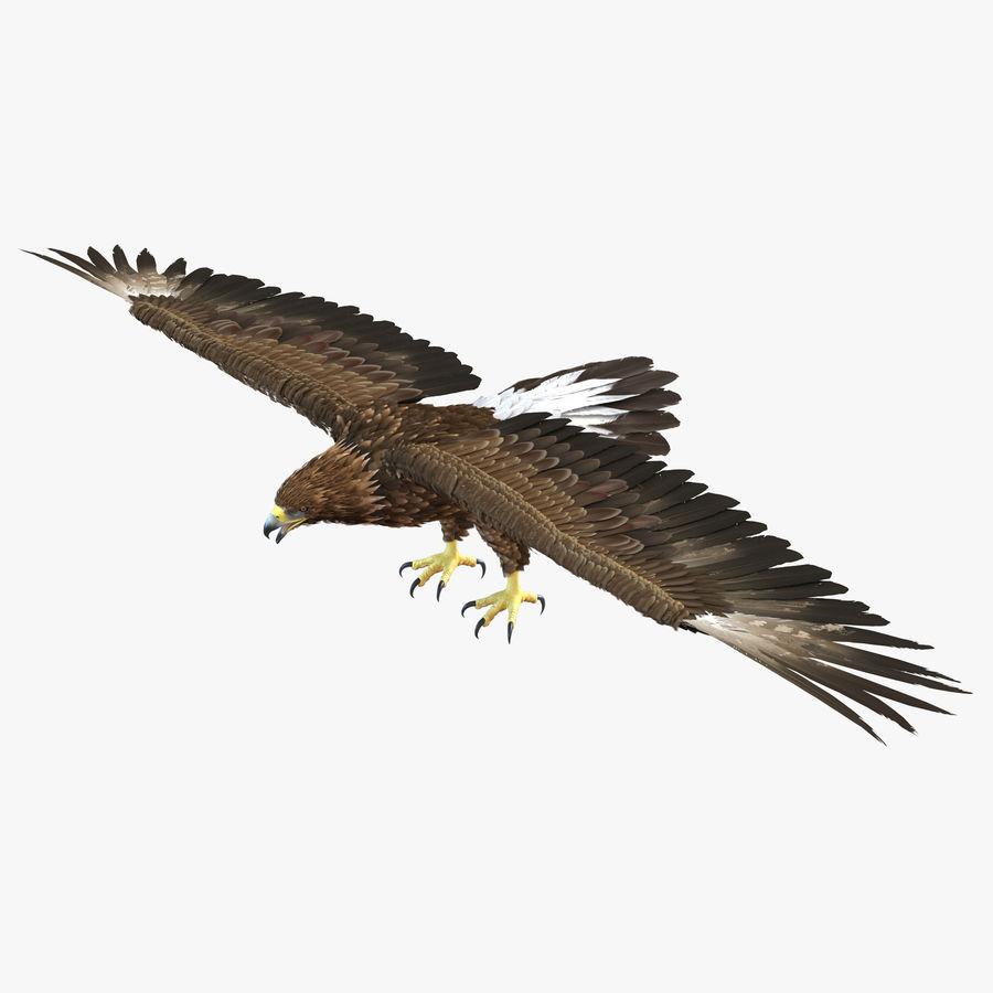 Águila dorada royalty-free modelo 3d - Preview no. 1