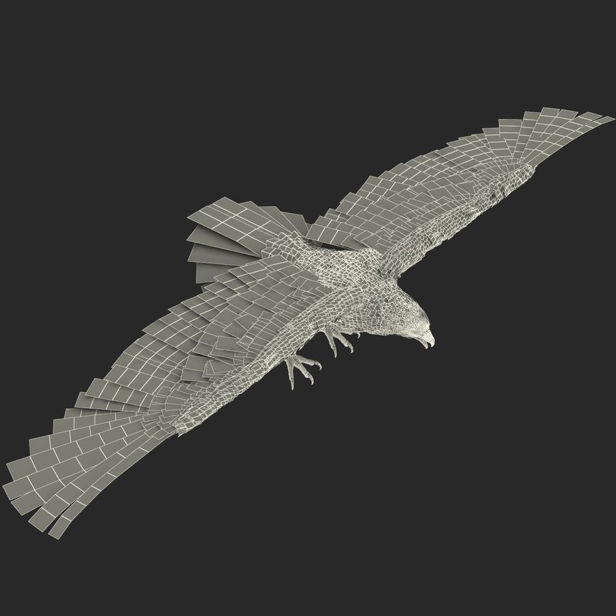 Águila dorada royalty-free modelo 3d - Preview no. 28