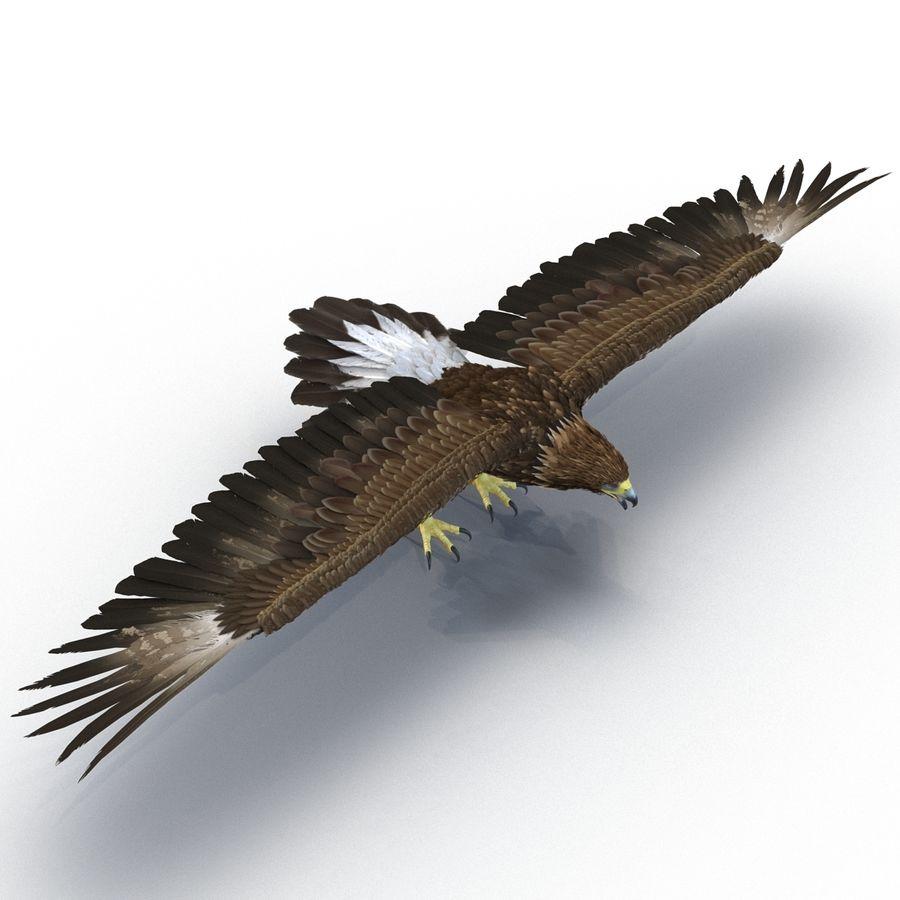 Águila dorada royalty-free modelo 3d - Preview no. 3