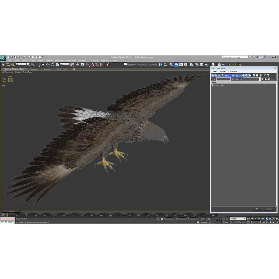Águila dorada royalty-free modelo 3d - Preview no. 27