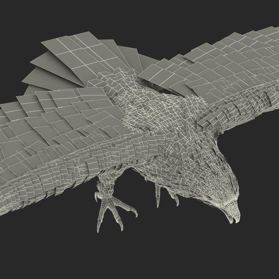 Águila dorada royalty-free modelo 3d - Preview no. 30