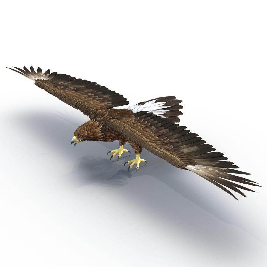 Águila dorada royalty-free modelo 3d - Preview no. 2