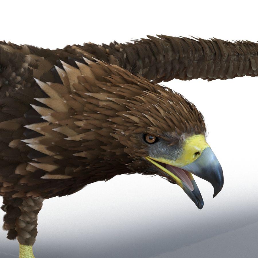 Águila dorada royalty-free modelo 3d - Preview no. 15