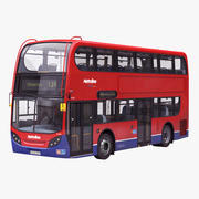 London Bus Enviro400 enkel inredning 3d model