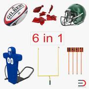 Football Equipment 3D Models Collection 3d model