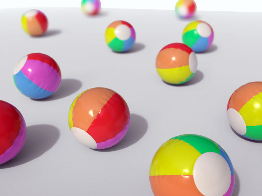 Beach Ball royalty-free 3d model - Preview no. 5