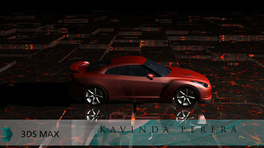Nissan Skyline GTR royalty-free 3d model - Preview no. 1