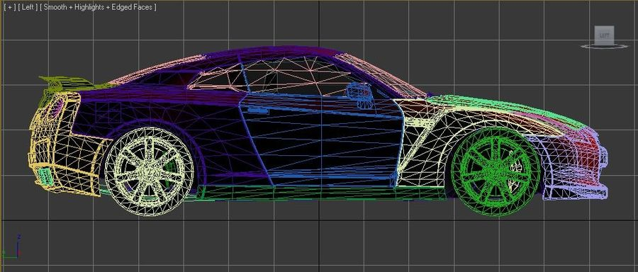 Nissan Skyline GTR royalty-free 3d model - Preview no. 4
