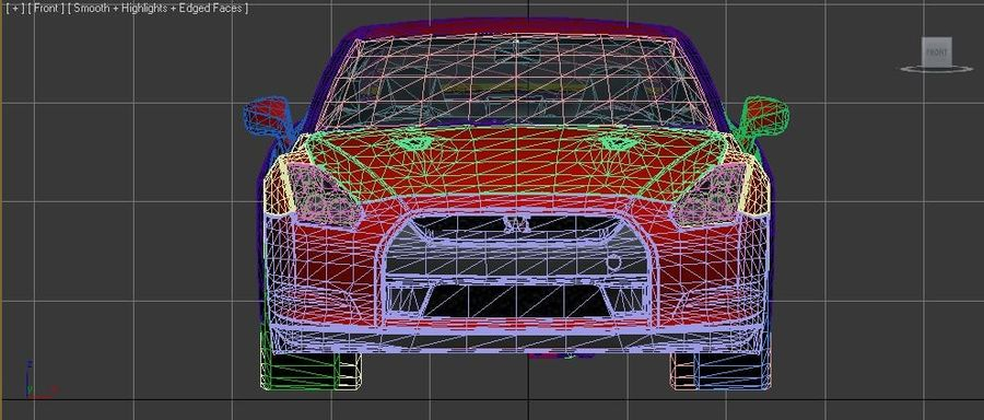 Nissan Skyline GTR royalty-free 3d model - Preview no. 5